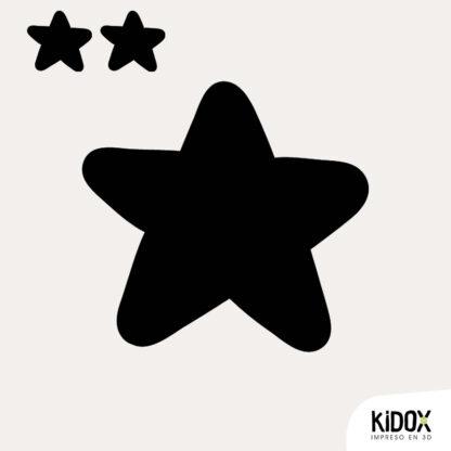 Parches divertidos para niños, para planchar. Con forma de estrella