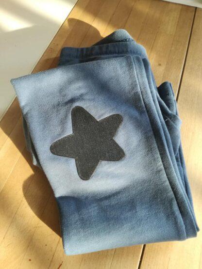 Parche termoadhesivo con forma de estrella.