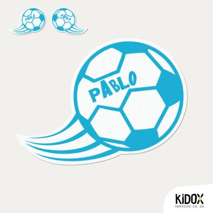 Parche termoadhesivo con forma de balón de fútbol,