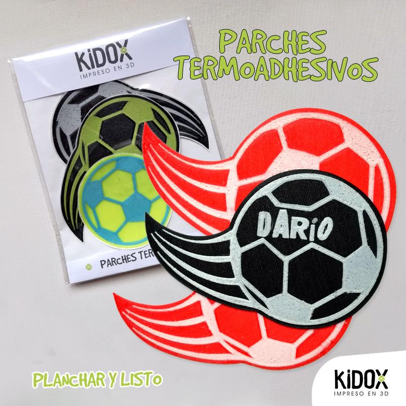 Parches termoadhesivos infantiles con forma de balón de fútbol 36a81dd1a80b2