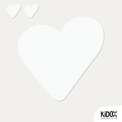 Rodillera termoadhesiva con forma de corazón