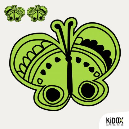 Parche para la ropa con forma de mariposa