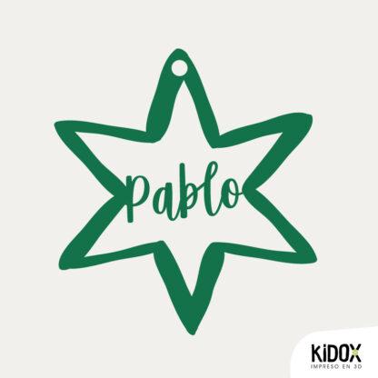 Estrellas de Navidad personalizadas