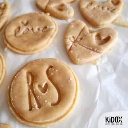 Cortador de galletas personalizado Kidox, impreso en 3D