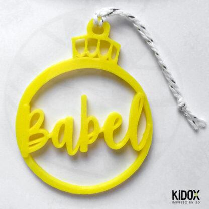 Decoración de Navidad personalizada. Bolas de Navidad con nombre. Kidox, impreso en 3D.