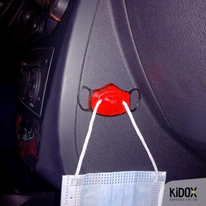 Perchas para mascarillas para el coche o sitios reducidos, para organizar las mascarillas. Colgador de mascarillas para el coche.