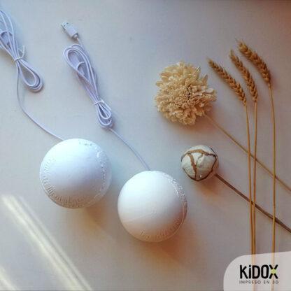 Lámpara led litofanía personalizada, impresas en 3D con base de madera. Kidox, impreso en 3D