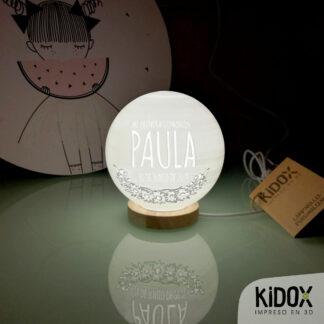 Lámpara led personalizada con foto, Kidox, impreso en 3D.