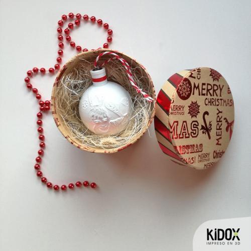 Esferas de Navidad con luz personalizadas, impresas en 3D. Adornos de Navidad personalizados. Kidox, impreso en 3D
