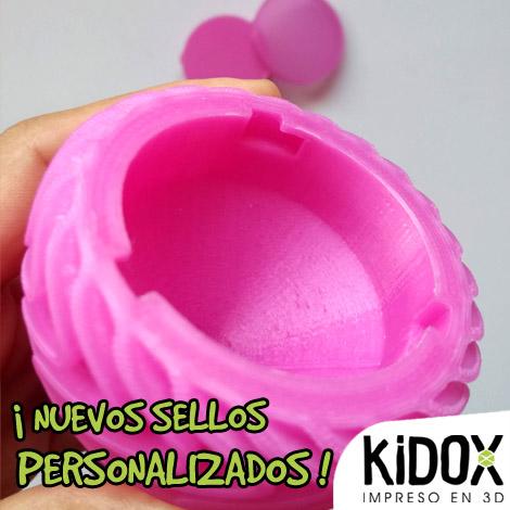 Sellos personalizados profesores impresos en 3D